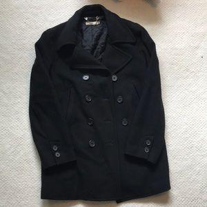 Black J-Crew pea coat